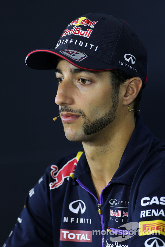 Daniel Ricciardo, Red Bull Racing at the FIA Press Conference