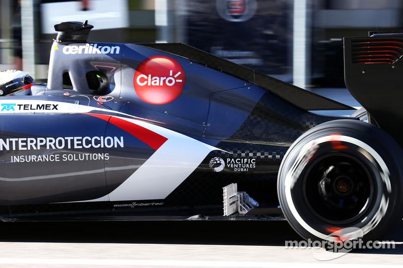 Adrian Sutil, Sauber C33, con equipos de sensores en funcionamiento