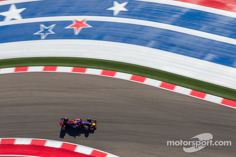 Sebastian Vettel, Red Bull Racing RB10 at United States GP