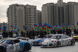 Parada no centro de Baku