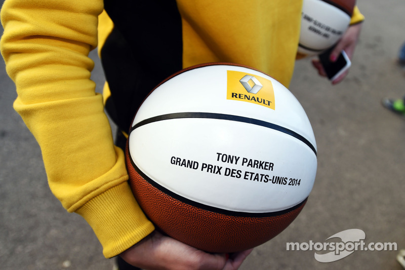 A basketball for Tony Parker, NBA Basketball Player