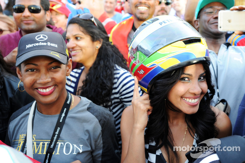 Fans after the race