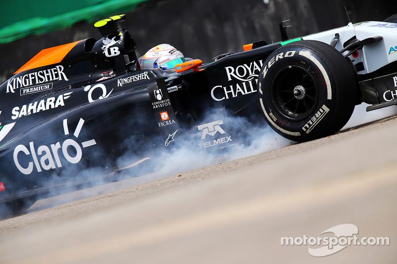 Daniel Juncadella, Sahara Force India F1 VJM07 Test ve Yedek Pilotu ilk antrenman seansında kaza yap