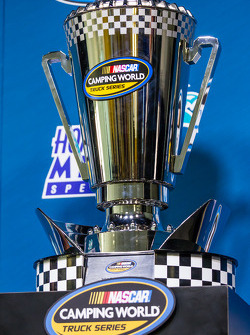 Press conference for the Nationwide Series and Camping World Truck Series: championship trophy for the NASCAR Camping World Truck Series