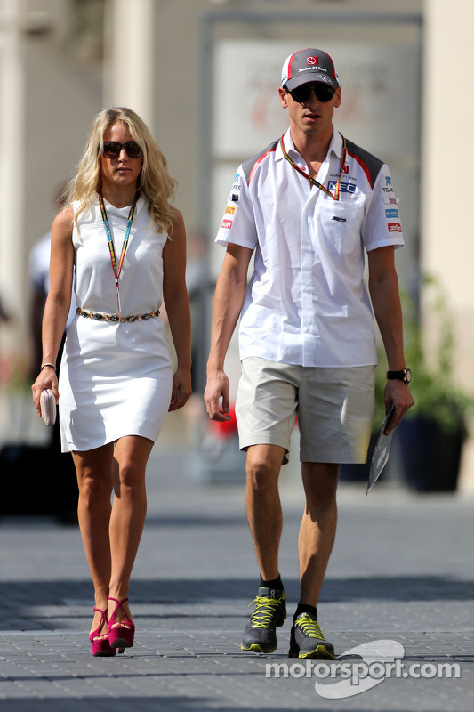 Adrian Sutil, Sauber F1 Team, mit Freundin Jennifer Becks
