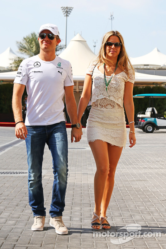 Nico Rosberg, da Mercedes AMG F1, com sua esposa Vivian Rosberg