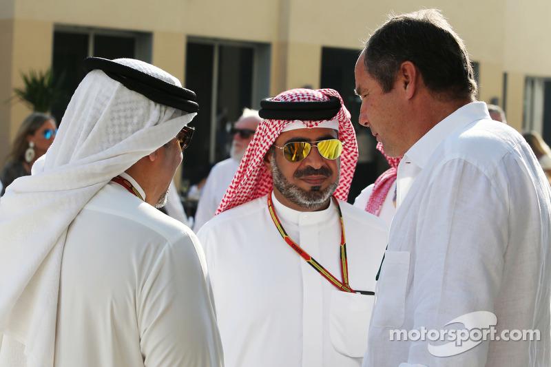 HRH Prens Salman bin Hamad Al Khalifa, Bahreyn Prens Veliahtı ve Gerhard Berger,