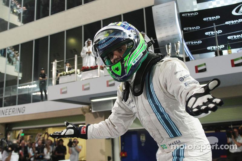 Felipe Massa, Williams celebrates his second position in parc ferme