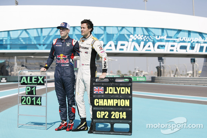Il campione GP3 Alex Lynn, Carlin e il campione GP2 Jolyon Palmer, DAMS