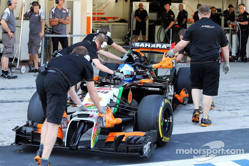印度力量F1车队VJM07测试车手乔利恩·帕尔默