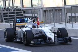 Valtteri Bottas, Williams FW36 correndo com sensor na asa dianteira