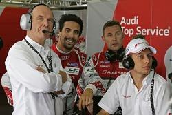 Dr. Wolfgang Ullrich, head of Audi Sport, Lucas di Grassi, Tom Kristensen, Loic Duval