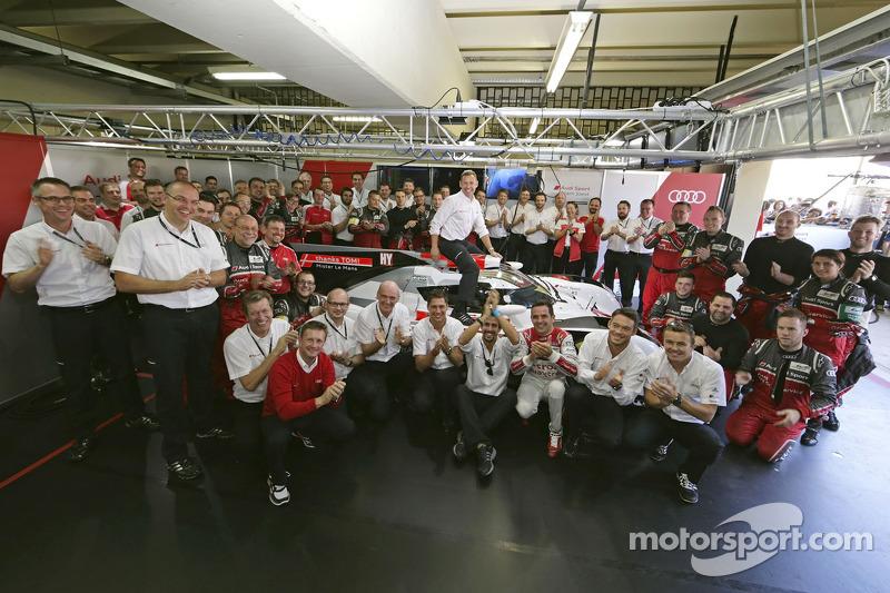 Tom Kristensen, foto di addio con Audi Sport