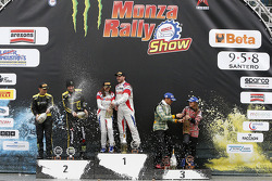 Podium: winners Robert Kubica and Alessandra Benedetti, second place Valentino Rossi and Carlo Cassina, third place Stefano D'Aste and Linda D'Aste