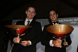 Blancpain Sprint Series-Pro-Am Cup drivers champions Marc Basseng, Alessandro Latif