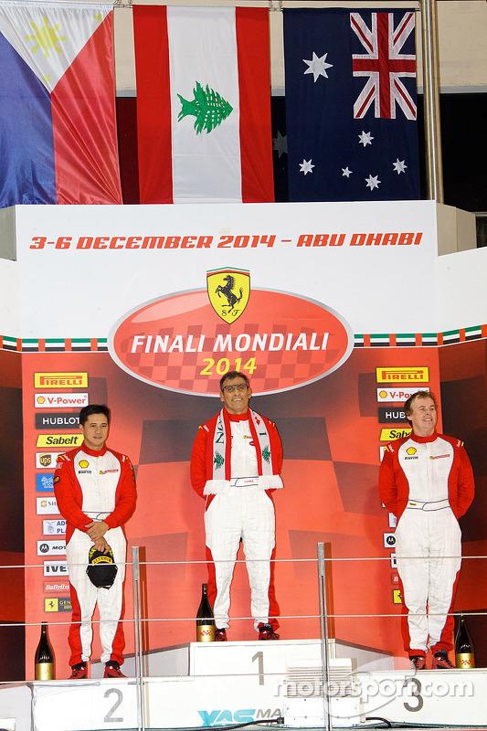 Ferrari Challenge APAC/NA 1. yarış podyumu - Coppa Shell: Kazanan Tani Hanna