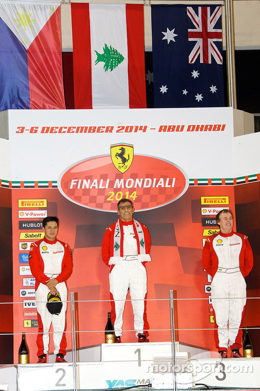 Ferrari Challenge APAC/NA race 1 podium - Coppa Shell: winner Tani Hanna