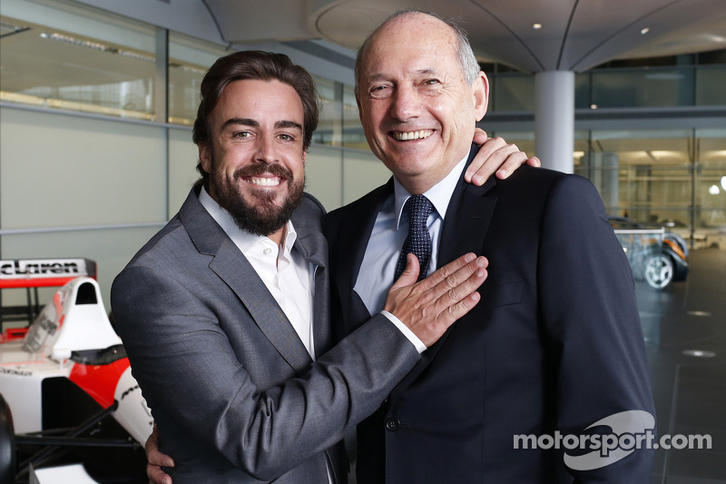 Fernando Alonso and Ron Dennis, Chairman & CEO of McLaren