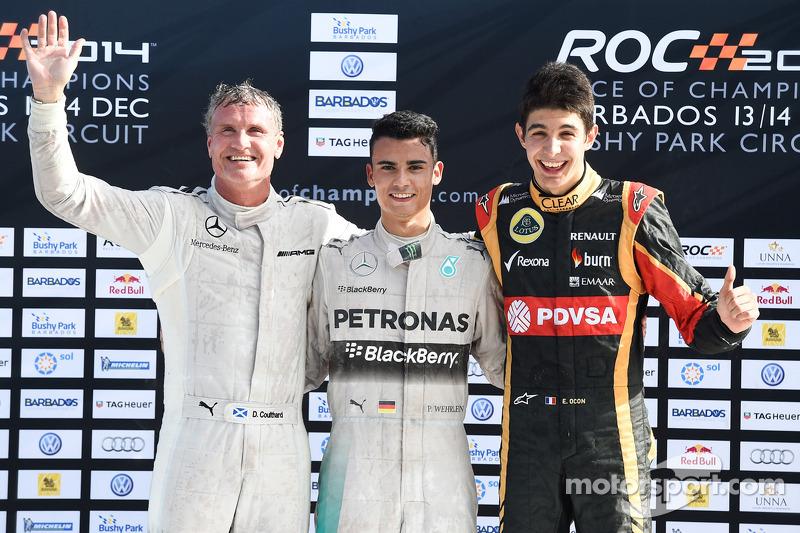 Vincitore David Coulthard, secondo posto Pascal Wehrlein, terzo posto Esteban Ocon