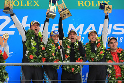 LMGTE Am podium: winners Christian Ried, Julien Andlauer, Matt Campbell, Proton Competition, Patrick Dempsey, Dempsey Proton Competition