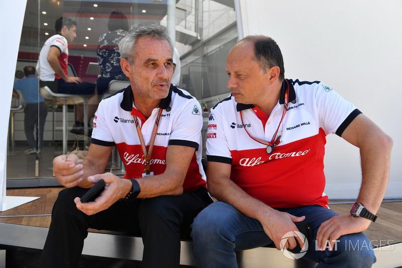 Beat Zehnder, Manager Sauber e Frederic Vasseur, Team Principal, Sauber