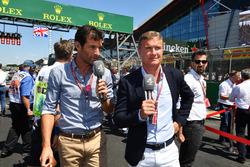 Mark Webber, et David Coulthard, Channel 4 F1 sur la grille