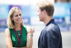 TV Presenter Nicki Shields wth Nico Rosberg