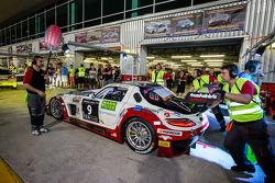 #9 Hofor-Racing,梅赛德斯SLS AMG GT3: Michael Kroll, Kenneth Heyer, Christiaan Frankenhout, Roland Eggimann, Roland Rehfeld