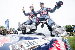 Vincitori categoria auto #301 Mini: Nasser Al-Attiyah, Mathieu Baumel