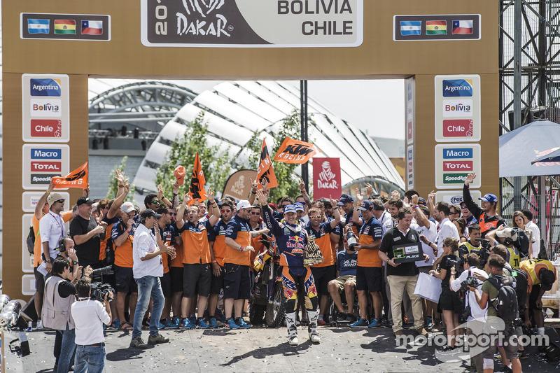 Motorrad-Podium: Sieger Marc Coma