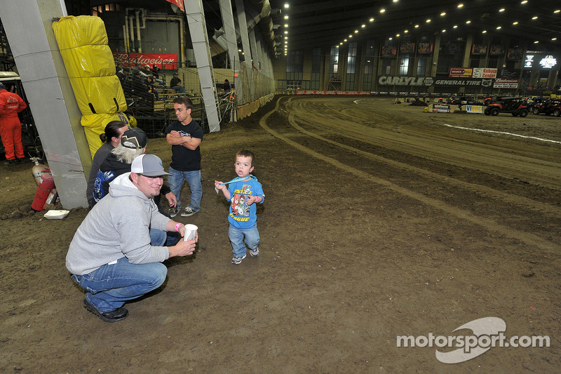 Rico Abreu and friends check out the track.