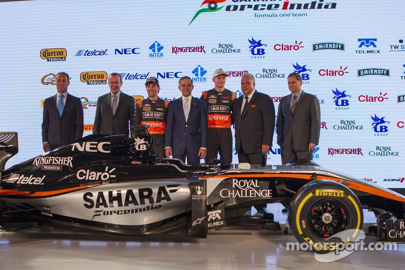 Das Design von Sahara Force India F1 2015 wurde vorgestellt