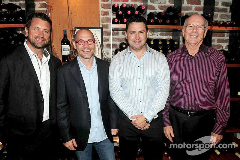 I fondatori dell'Area 27 Trevor Seibert, Jacques Villeneuve, Bill Drossos e David King al party di lancio