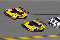 #4 Corvette Racing Chevrolet Corvette C7.R: Oliver Gavin, Tommy Milner, Simon Pagenaud, #3 Corvette Racing Chevrolet Corvette C7.R: Jan Magnussen, Antonio Garcia, Ryan Briscoe