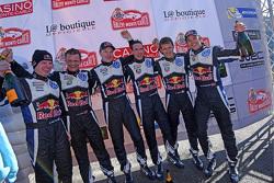 Jari-Matti Latvala, Miikka Anttila, Sébastien Ogier, Julien Ingrassia, Mikkelsen y Ola Floene