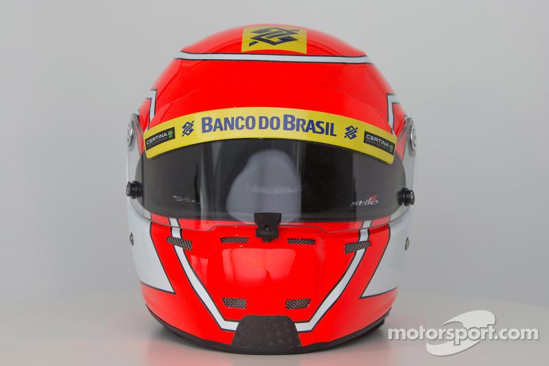 Der Helm von Felipe Nasr, Sauber F1 Team