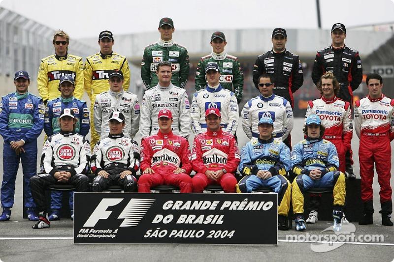 Familiefoto: de klas van 2004 in de Formule 1