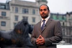 His Highness Sheikh Maktoum Hasher Maktoum Al Maktoum (UAE) CEO and President of A1 Grand Prix at the launch of A1 Grand Prix