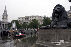 The A1 Grand Prix car in Trafalgar Square