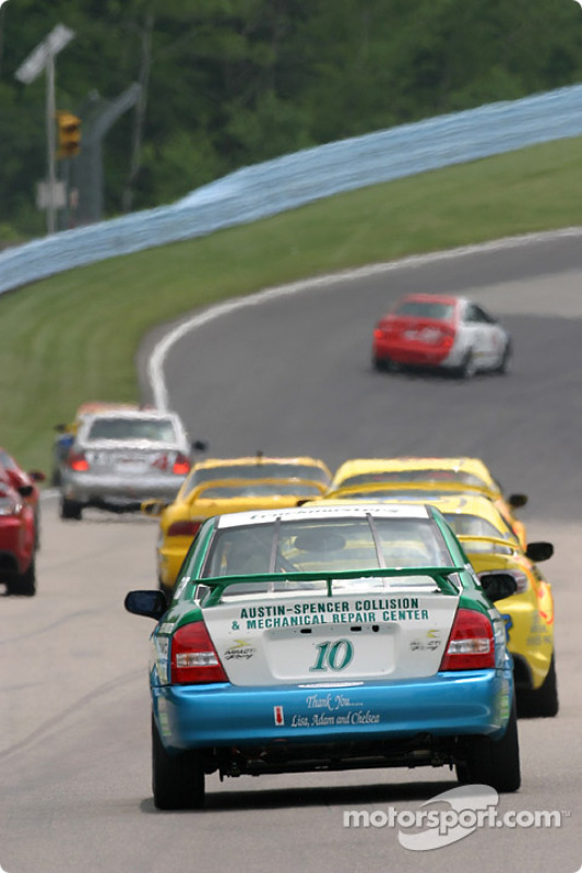 La Mazda Protégé n°10 Doc B Racing : Thomas Bork, Paul Stoddart
