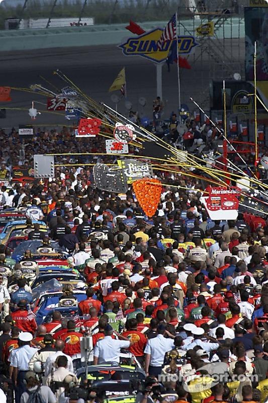 Ceremonia previa a la carrera