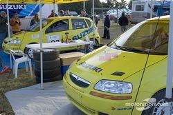 #23 - William Bacon and Peter Watt, 2004 Suzuki Swift, P-2  and #24 - Thierry Menegoz and Elise Racette, 2004 Suzuki Swift, P-2