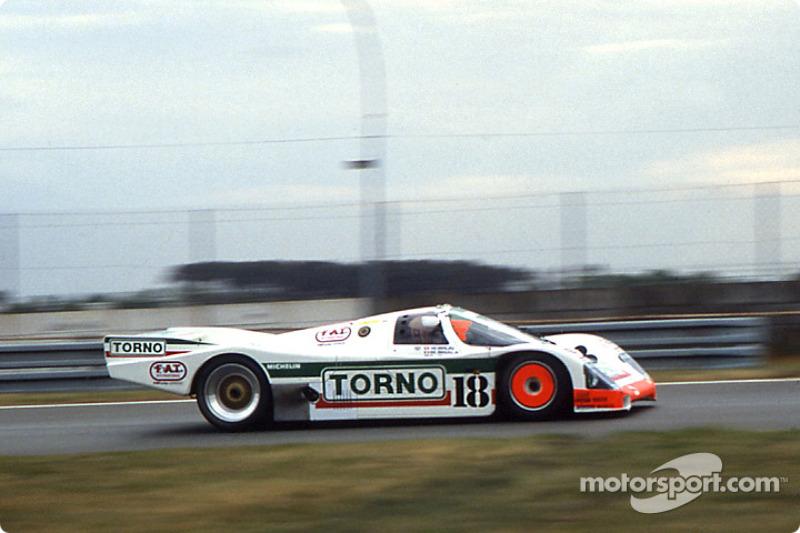 #18 Brun Motorsport Porsche 962 C: Massimo Sigala, Frank Jelinski, Walter Brun
