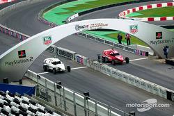 Team Brazil on the track: Tony Kanaan and Felipe Massa