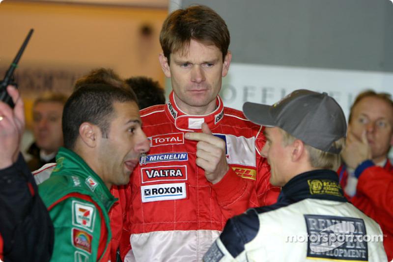 Tony Kanaan, Marcus Gronholm and Heikki Kovalainen