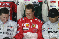 David Coulthard, Michael Schumacher and Jean Alesi