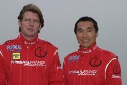 Nissan Dessoude team presentation: co-driver Pascal Maimon and driver Kenjiro Shinozuka
