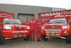 Nissan Dessoude team presentation: William Alcaraz, Paul Belmondo, Benoit Rousselot and Philippe de Weindel