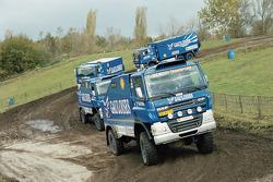 Team de Rooy presentation: Gerard de Rooy tests the rally truck DAF CF75 FAV4x4