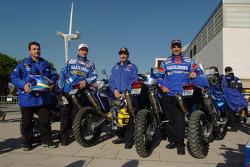 Gauloises KTM riders Cyril Despres, Alfie Cox, Fabrizio Meoni and Jean Brucy